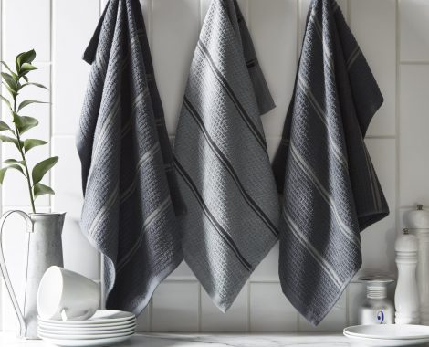 CAFE - CHARCOAL - KITCHEN TOWELS-min