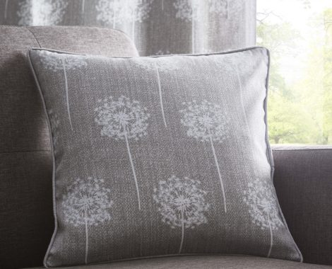 SILHOUETTE GREY SMALL 43X43CMS CUSHION (no usm)