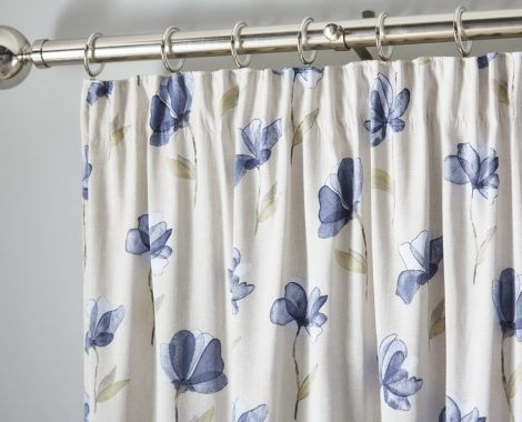 WESTBURY CURTAIN HEADER - BLUE