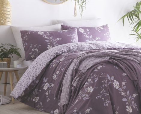 YASMINA PLUM WITH THROW
